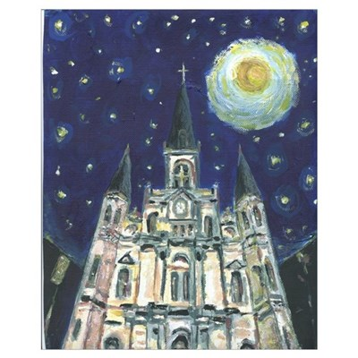 Night Cathedral Print Canvas Art