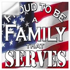 """Proud Family that Serves"" Wall Decal"