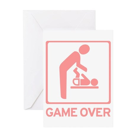 New Dad to be - Game over Dia Greeting Card