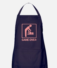 New Dad to be - Game over Dia Apron (dark)
