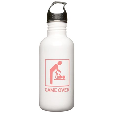 New Dad to be - Game over Dia Stainless Water Bott