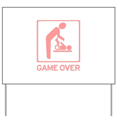 New Dad to be - Game over Dia Yard Sign