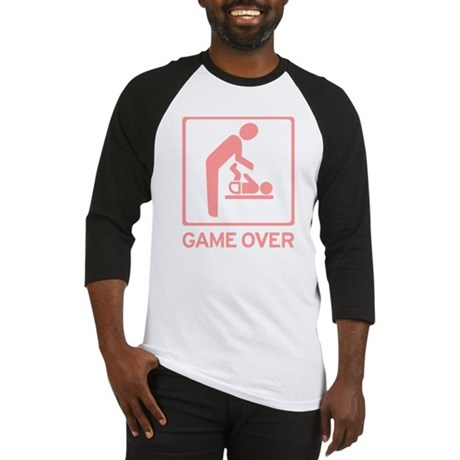 New Dad to be - Game over Dia Baseball Jersey
