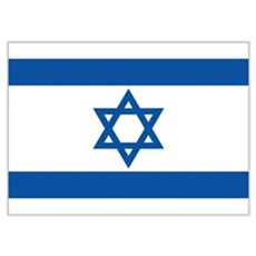 Israel's flag Poster