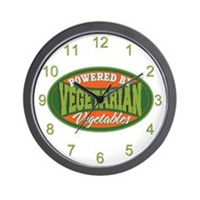 Powered by Vegetables Wall Clock