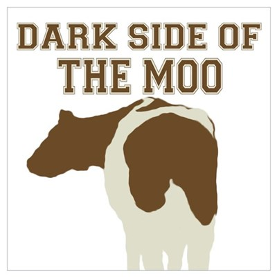 Dark Side Of The Moo Framed Print