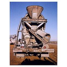 "Cement Truck Rear - -11"" X 15.25"" Poster"