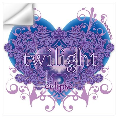 Twilight Eclipse Purple Heart Wall Decal