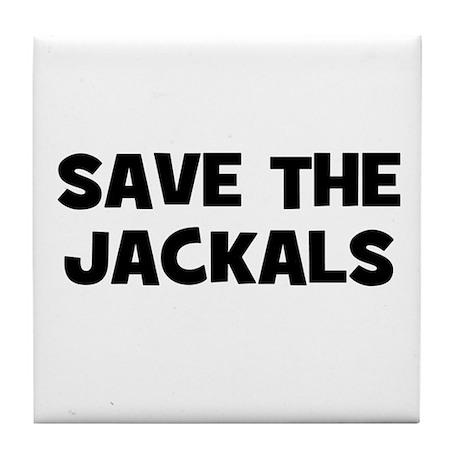 Save The Jackals Tile Coaster