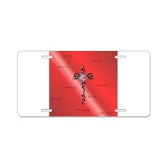 Cross Aluminum License Plate