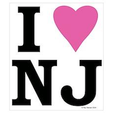"""""""I LOVE NJ"""" Pink Poster"""