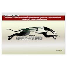 Greyhound Busline B Poster