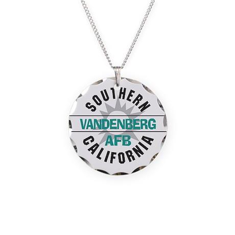 Vandenberg AFB Necklace Circle Charm