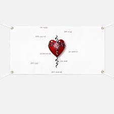 Cross & Heart Banner