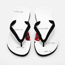 Cross & Heart Flip Flops