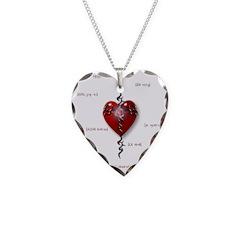 Cross & Heart Necklace Heart Charm