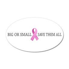 Big-Small Save Them All 2 22x14 Oval Wall Peel