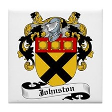Johnston Coat of Arms Tile Coaster