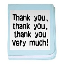 thank you thank you baby blanket