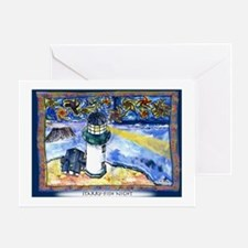 Starry-Fish Night Greeting Card
