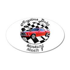Ford Mustang Mach 1 Medium Oval Wall Peel