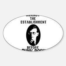 Shosty Anti Establishment Sticker (Oval)