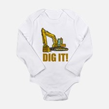 Dig It! Long Sleeve Infant Bodysuit