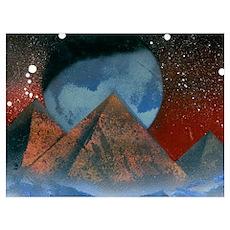 Alien Pyramids Poster