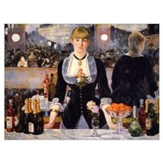 A Bar at Folies Bergere Canvas Art