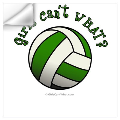 Volleyball Team - Green Wall Decal
