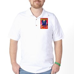 Fantastic Big Dog Cover Art Golf Shirt