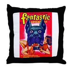 Fantastic Big Dog Cover Art Throw Pillow