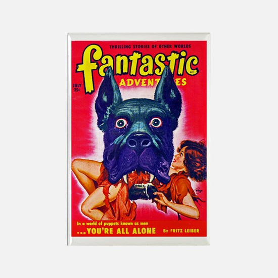 Fantastic Big Dog Cover Art Rectangle Magnet (10 p