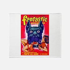Fantastic Big Dog Cover Art Throw Blanket
