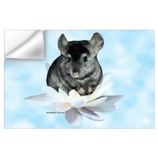 Chin Lily Blue Wall Decal
