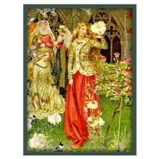 Lady Guinevere (Courtyard) Framed Print