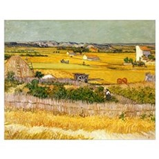 Van Gogh The Harvest Poster