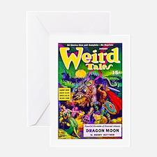 Weird Dragon Monster Cover Art Greeting Card