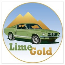 The Lime Gold Poster