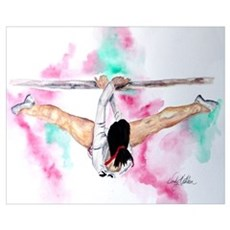 Gymnastics Bars Framed Print