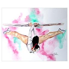Gymnastics Bars Poster