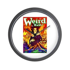 Weird Demon Woman Cover Art Wall Clock