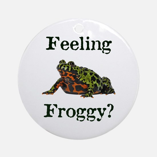 Feeling Froggy? Ornament (Round)