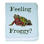 Feeling Froggy? baby blanket