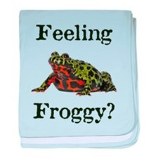 Feeling Froggy? baby blanket