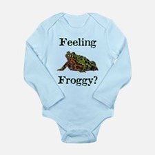 Feeling Froggy? Long Sleeve Infant Bodysuit