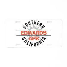 Edwards Air Force Base Aluminum License Plate