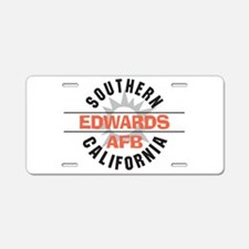 Edwards Air Force Base Aluminum License Plate