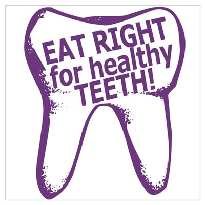 Eat Right Healthy Teeth Poster