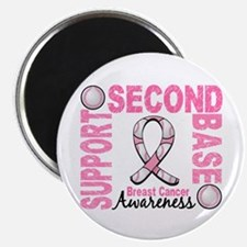 Second 2nd Base Breast Cancer Magnet